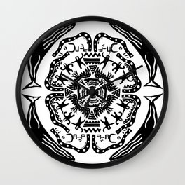 Soul Of The Dream Desert - A Conversation Amongst Animals (Black and White Edition) Wall Clock