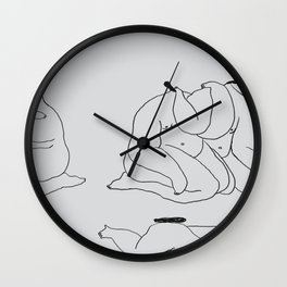 knotting my arm tightly and firmly around yours. Wall Clock