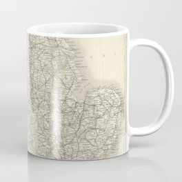 Black's Road and Railway Guide to England and Wales (1884): Sketch Map of England and Wales Coffee Mug