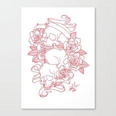Skull & Roses Canvas Print