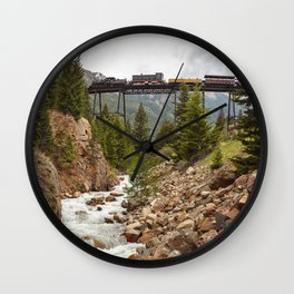 Colorado Mountain Train Georgetown Loop Railroad Wall Clock
