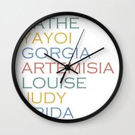 Famous Women Artists Feminism Art History Wall Clock