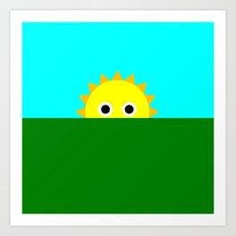 Shy Sun Art Print
