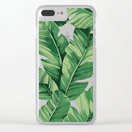 Tropical banana leaves II Clear iPhone Case