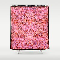 psych Shower Curtains featuring Surround Yourself ver. II by Work the Angle