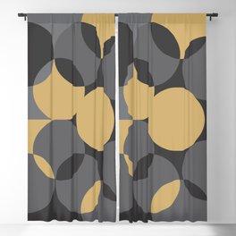 Black Gold Blackout Curtain