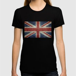 UK Flag, Dark grunge 3:5 scale T-shirt