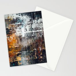 Abstract Winter Landscape Stationery Cards