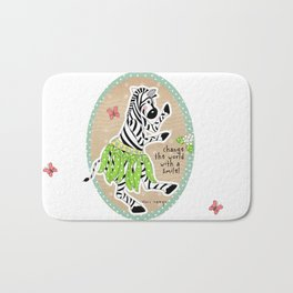 Change the World with a Smile Bath Mat