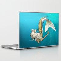 kiki Laptop & iPad Skins featuring Kiki, fin style! by Jackie Musto