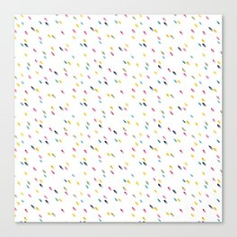 rainbow raindrops Canvas Print