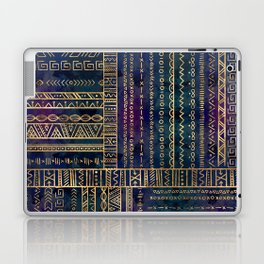 Tribal Ethnic pattern gold on painted texture Laptop & iPad Skin