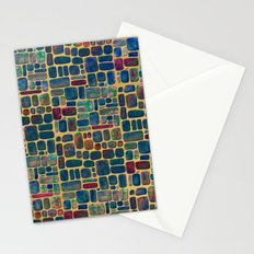 Abstract Tile Mosaic Stationery Cards