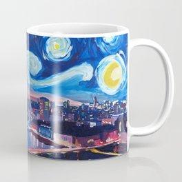Starry Night in London - Van Gogh Inspirations with Big Ben and London Eye Coffee Mug