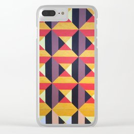 3D tiles, geometric patterns, abstract art Clear iPhone Case