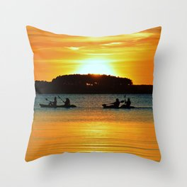 Two Tandems Throw Pillow