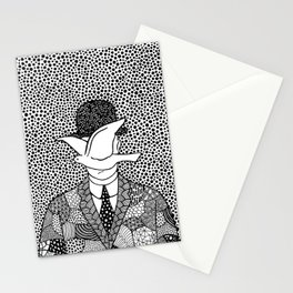 Magritte - Man in a bowler hat Stationery Cards