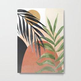 Abstract Tropical Art VI Metal Print