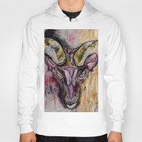 goat Hoodies featuring Goat by Derek Boman
