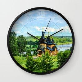 Village landscape Wall Clock