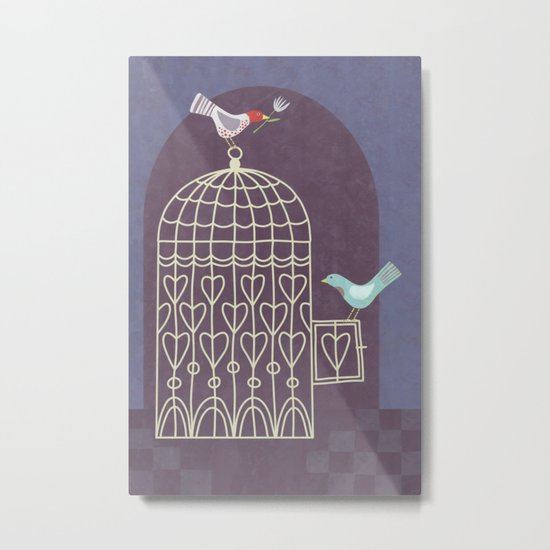 Leaving the Birdcage Metal Print