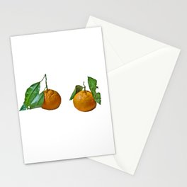Two mandarins Stationery Cards