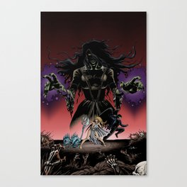 Monsters Among Us: A War of Witches Cover Canvas Print