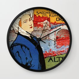 German artisanal art expo Dresden 1896 Wall Clock