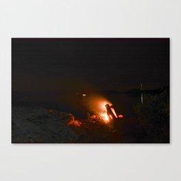 Campfire. Canvas Print