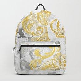 White Peonies Crown Backpack