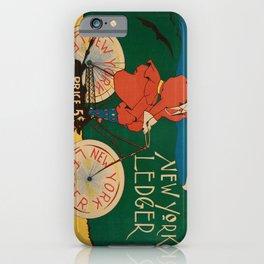 cartellone new york ledger. 1895 iPhone Case