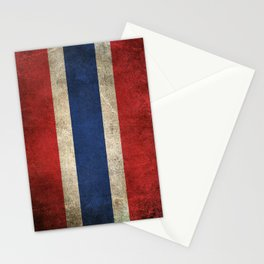 Old and Worn Distressed Vintage Flag of Thailand Stationery Cards