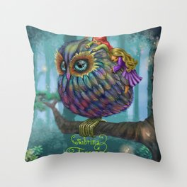 Sweetness of the Owl Throw Pillow
