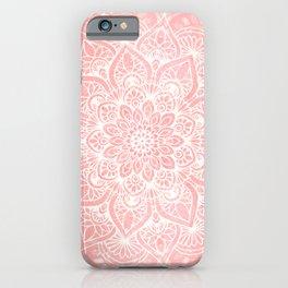 🤍, Mandala, Yoga Love, Coral, Wall Art Boho iPhone Case