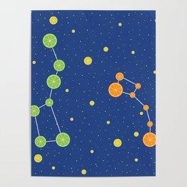 Citrus constellations Poster