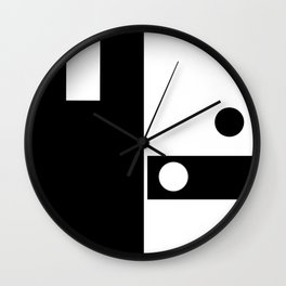 Minimal Black and White Wall Clock