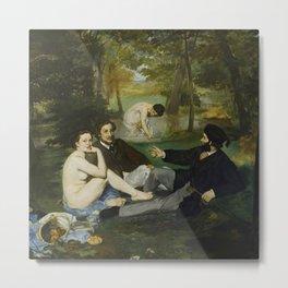 """Édouard Manet """"Le déjeuner sur l'herbe (Luncheon on the Grass)"""" Metal Print"""
