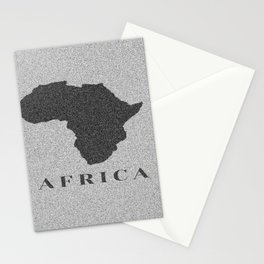 Map of Africa Stationery Cards
