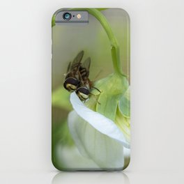 Two Little Hoverflies iPhone Case