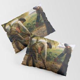 Potato Planters by Jean-François Millet (1861) Pillow Sham