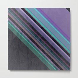 Purple Dash - modern and stylish geometric chevron pattern Metal Print