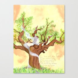 The concentrated Lady of the Oak Canvas Print