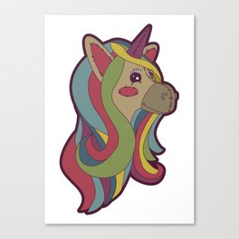 Unicorn Head! Canvas Print