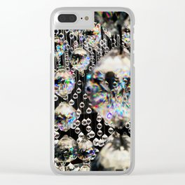 Suspended Crystals Clear iPhone Case