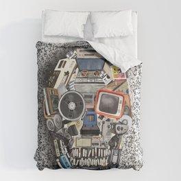 retro tech skull 5 Comforters