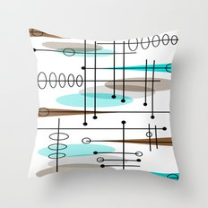 Mid-Century Modern Atomic Inspired Throw Pillow