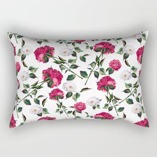 Summer Floral Pattern Rectangular Pillow