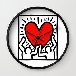 HUMANS LOVE Wall Clock