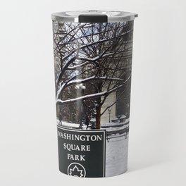 Washington Square Park in the snow Travel Mug