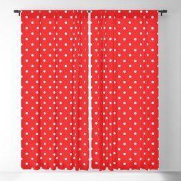 Domino Dots red and white Blackout Curtain
